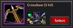 Recipe - Crossbow 5lvl