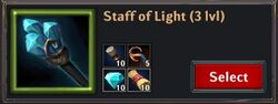 Recipe - Staff of Light 3lvl