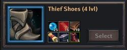 Recipe - Thief Shoes 4lvl