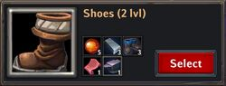 Recipe - Shoes 2lvl