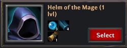 Recipe - Helm of the Mage 1lvl