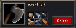 Recipe - Axe 1lvl