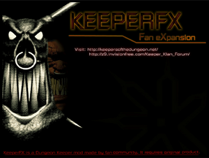 Dungeon Keeper FX load screen