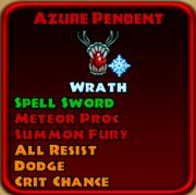 Azure Pendent