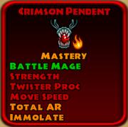 Crimson Pendant