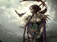 Fantasy woman w- scyth