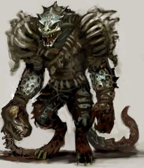 Original lizardman by unknown - resized