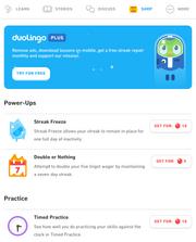 Duolingo shop