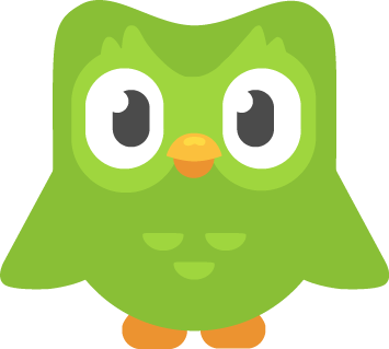 Duo is the official mascot of Duolingo. He is a male green owl of an unknown species and is meant to symbolize knowledge, wisdom and learning.