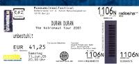 Ticket duran duran 11 june 2005 berlin 200