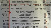 St Augustine FL 10-13-11 duran duran discogs ticket
