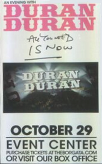 Borgata, Atlantic City, NJ, USA. duran duran event center 2011