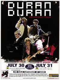 Poster duran duran duran PNC Bank Arena, Holmdel Jones Beach Theatre, Wantagh