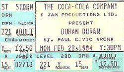Duran2 20 FEB 84