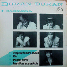 Covers, Duran Duran, 1982, Carnival EP Spain, 01 Front