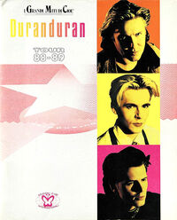 Duran duran big live thing Italian tour programme