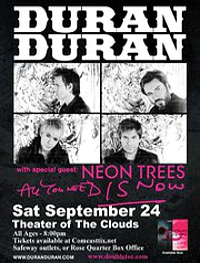 The Theater of the Clouds duran duran poster 2011