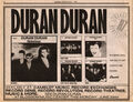 NOTORIOUS ADVERT DURAN DURAN 1