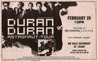 Toyota Center, Houston TX, USA. WIKIPEDIA DURAN DURAN