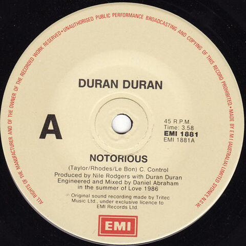File:191 notorious song duran duran discography discogs wiki australia EMI 1881 single 2.jpeg