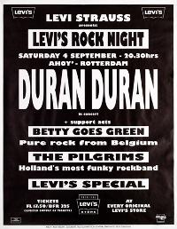 Poster duran duran ahoy rotterdam 4 september 1993
