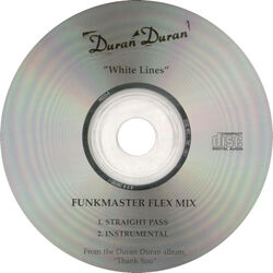 142 white lines funkmaster flex mix song single usa cd promo PROCD-5 duran duran discogs discogs wiki