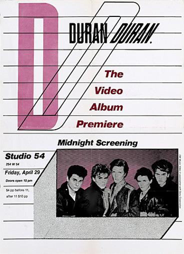 The video screening flyer studio 54 new york duran duran discography music com wikipedia.jpg  sc 1 st  Duran Duran Wiki - Fandom & Image - The video screening flyer studio 54 new york duran duran ...
