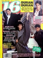 16 Magazine wikipedia January 1986 Ralph Macchio, Duran Duran, Michale J. Fox