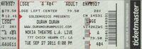 Nokia Theatre, L.A. Live, Los Angeles, CA wikipedia duran duran ticket stub look at stubs com