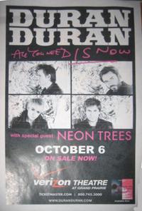 Verizon theatre at grand prairie duran duran tickets poster discogs