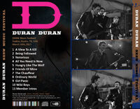 1 duran duran concert ticket Recorded live at (SXSW Music Festival), Stubbs, Austin, TX, USA, March 16th, 2011.