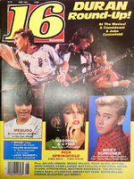 16 Magazine Duran Duran Round-Up, Madonna June 1985 wikipedia madonna