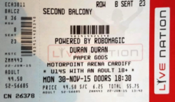 Motorpoint Arena wikipedia cardiff duran duran ticket stub discogs com