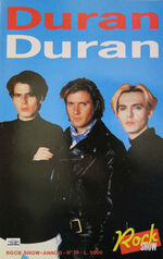 Rock show book italy wings Printed in Italy 1988 79 pages duran duran wikipedia