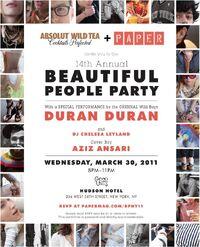 Paper magazine party duran duran poster 2011