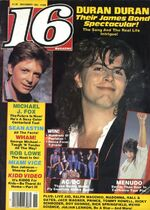 16 magazine november 85 duran duran michael j fox look at sticket stubs discogs wiki