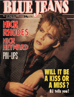 Blue Jeans Magazine 20 April 1985 No. 431 Nick Rhodes of Duran Duran wikipedia