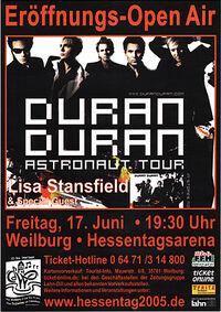 Hessentag Arena in Weilburg, Germany eroffnungs open air wikipedia duran duran lisa standsfield