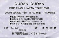 Ticket duran duran KOUBE