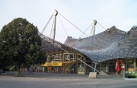 Olympia München (1972) Eingang Olympiahalle