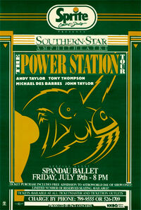 Poster duran duran Southern Star Amphitheatre in Houston power station