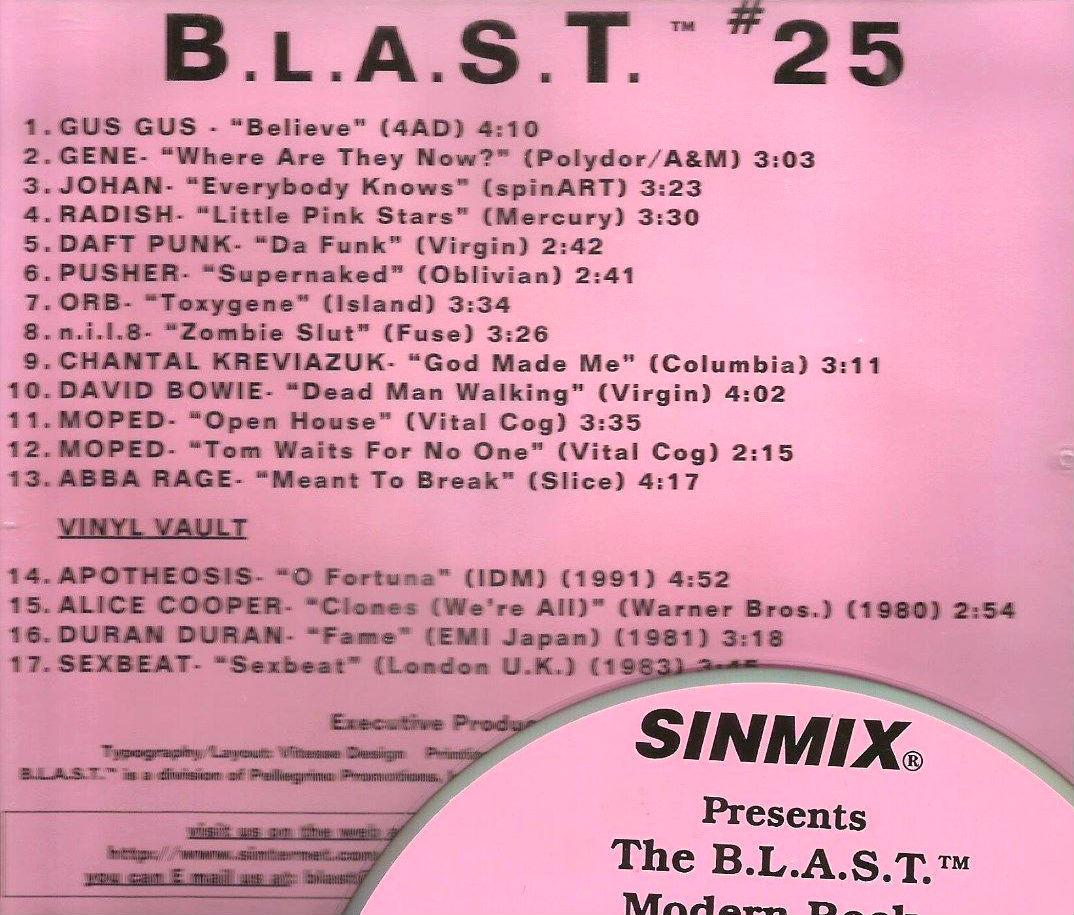Sinmix Presents B L A S T  no  25 | Duran Duran Wiki