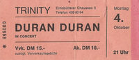 Trinity Hamburg Germany wikipedia google duran duran com ticket stub wiki