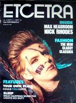 DURAN DURAN NICK RHODES 1985 ETCETERA MAGAZINE wikipedia music entertainment com