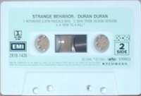 31 strange behaviour cassette single japan ZR18-1438 duran duran discography discogs wikipedia 3