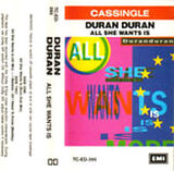 27 all she wants is song single cassette duran duran EMI · AUSTRALIA · TC-ED-395 discography discogs wiki