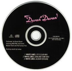 118 white lines uk promo cd song single CDDD DJ 007 duran duran band discography discogs wikipedia