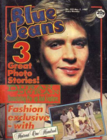 BLUE JEANS MAGAZINE no.329 DURAN DURAN, HAIRCUT ONE HUNDRED, FALABELLA HORSES wikipedia david bowie song