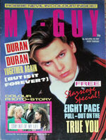 MY GUY MAGazine wikipedia APR 4 1987 DURAN DURAN,MORTEN,JON BON JOVI