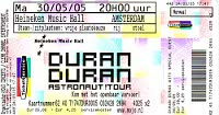 Ticket duran duran 30 may 2005 amsterdam 200